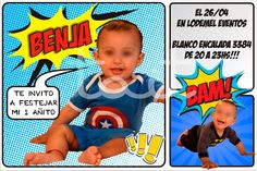 un añito - Superheroes #Superheroes Babyshower, Frosted Flakes, Cereal, Baptism Favors, Invitation Cards, Invitations, Events, Baby Shower, Baby Showers