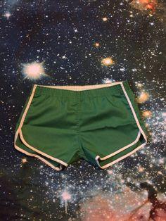 Vintage Green Colored Short Track Running Shorts by VintageVanShop on Etsy