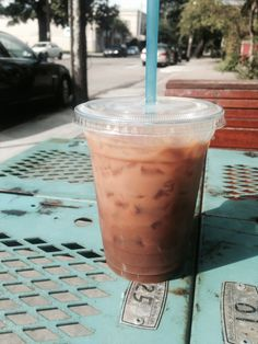 Cold brew from District: Donuts.Sliders. They also have delicious donuts and sliders! Yum