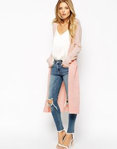 Enlarge Vila Two Tone Long Line Cardigan // asos