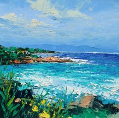 Irish Artist Colin CARRUTHERS-Early Evening Light, Les Issambres