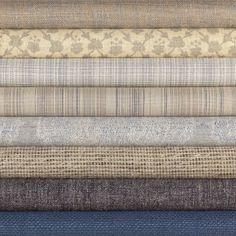 new fabrics top to bottom: Nebula, Festoon, Cross Hatch II, Valencia, Samarkand, Galaxy, Lewis, Linen Duck