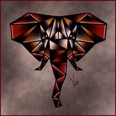 Geometric Elephant by Tita Jewels at Little Pricks Tattoo Studio, Austin, TX
