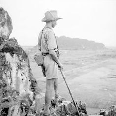 French; 1st Regiment Tirailleurs Algeriens, IIe Bataillon de Marche(IIeBM/1er RTA), A tirailleur of 5th Company looks out over the Day Delta. Taken after the recapture of the post at Ninh Binh and its subsequent rebuilding during June 1951, pin by Paolo Marzioli