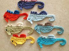 Crochet seahorses