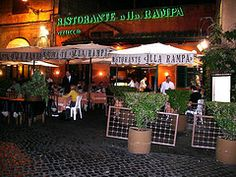 Our favorite restaurant in Rome, Italy.  The best veal ravioli and tiramisu you have ever tasted!