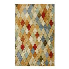 Mohawk Home Argyle Multi Cream Rectangular Indoor Tufted Area Rug (Common: 8 x 10; Actual: 96-in W x 120-in L)