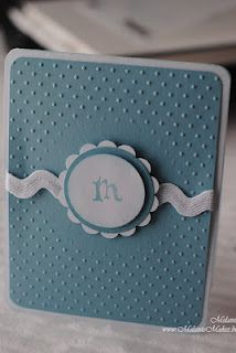 Quick Tip - Embossing Folder Resist - very good instructions and pictures - thanks Melanie!
