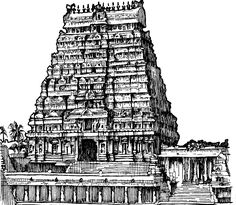 tamil nadu temple hd - Google Search Pen Sketch, Art Sketches, Temple Drawing, Architectural Sculpture, Temple Architecture, Perspective Drawing, Krishna Radha, Wedding Album, Pencil Drawings