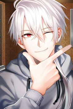 Mystic Messenger Zen - this photo cleansed my skin aaHHHH-- Anime Chibi, Chica Anime Manga, Anime Kawaii, Anime Boys, Cool Anime Guys, Anime Boy Smile, Garçon Anime Hot, Dark Anime, Art Anime Fille