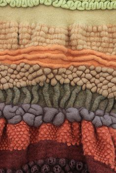 Seascape wall hanging, detail 2009 by lou baker, via Flickr