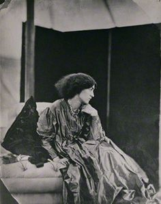 Jane Morris (née Burden), by John Robert Parsons, copied by  Emery Walker Ltd, July 1865 - NPG  -