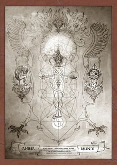 Anima Mundi - Alchemical Illustration - Alchemy - Artist: Arthea (Elena Frasca Odorizzi)