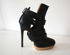 Heels | Shoes | Black | Boots | Booties | Strappy | Sophisticated |