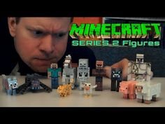 Minecraft Series 2 Action Figures- Unboxing Review Video... (Parker does not have Steve on Horse & Spider Jockey)