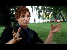 Eddie Redmayne doing an interview from the set of Pillars of the Earth.