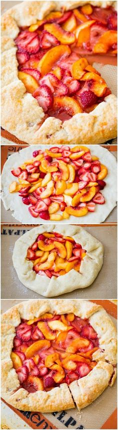 Rustic Strawberry Peach Galette is like a free-form pie! It's so simple to make and there is NEVER any leftover!