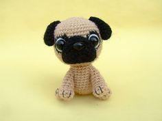 amigurumi pug by jaravee (pattern available)