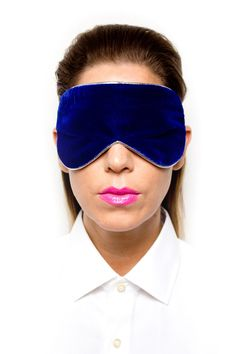 Blue Velvet Eye Mask