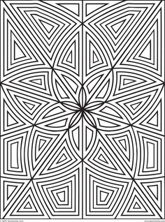 images of printable hard geometric coloring pages