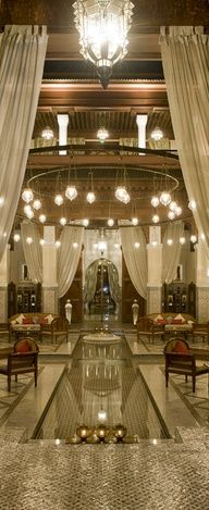 Riad in Marrakech - Royal Mansour Marrakech hotel Luxury Life, Luxury Living, Luxury Homes, Luxury Mansions, Luxury Interior, Interior And Exterior, Interior Design, Beautiful Interiors, Beautiful Homes