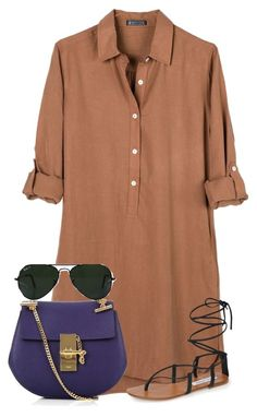 """""""Simple"""" by miss-aminata ❤ liked on Polyvore featuring United by Blue, Steve Madden, Chloé and Ray-Ban"""