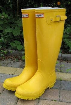 Hunter boots: Not So Mellow Yellow