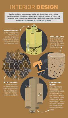 Attirer les insectes bénéfiques et les abeilles avec votre propre Insect Hôtel…