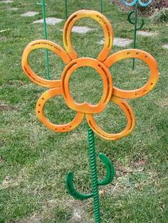 Made from horseshoes! Love this!