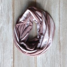 Chocolate Brown and Heather Striped Infinity Scarf by TheBlueDodo
