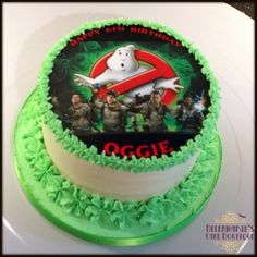Ghostbusters themed cake