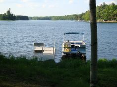 pontoon - perfect for our small lake