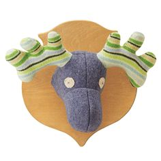 UPCYCLED SWEATER MOOSE HEAD | Wool Animal Stuffed Head | UncommonGoods  @brianne43 I see you with this in your house!