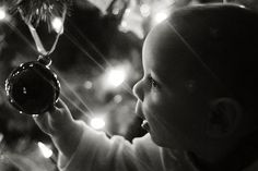 6 month old meets Christmas by photographaddict, via Flickr