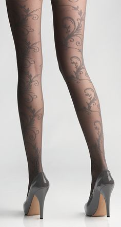 Pretty tights with gray design More
