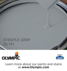 STEEPLE GRAY OL141 is a part of the aquas collection by Olympic® Paint.