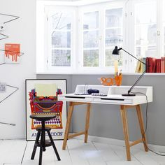 Coupar Laptop Desk In Matt White With Solid Beech Legs And 2 Drawers will be an great addition for your home office area Finish: Matt White And Solid Beech Features: •Coupar Laptop Desk In Mat...