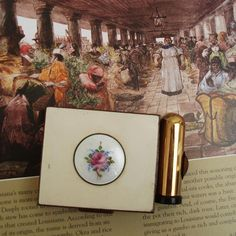 Vintage Makeup Compact Guilloche Enamel Lipstick by WhimzyThyme, $24.00
