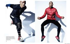 Paolo Roldan Gets Active for Mens Fashion Shoot