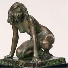 Mogens Bøggild Bronze Sculpture of a Crouching Women Figure Drawing Reference, Art Reference Poses, Photo Reference, Reference Images, Abstract Sculpture, Bronze Sculpture, Sculpture Art, Metal Sculptures, Action Poses