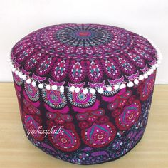 Home, Furniture & Diy Special Section Indian Tie Dye Mandala Pouf Ottoman Cover Round Floor Footstool Ethnic Pouffe Furniture