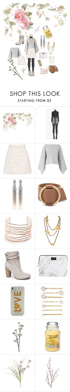 """""""Great in grey"""" by thegeorgiapeachs ❤ liked on Polyvore featuring Balmain, Amanda Wakeley, Oscar de la Renta, Alexis Bittar, Chanel, Chinese Laundry, Edie Parker, Jennifer Behr, Wyld Home and Yankee Candle"""
