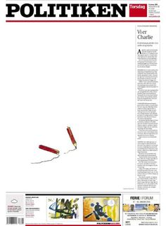How The World's Newspapers Reacted To The Attack On Charlie Hebdo Newspaper Cover, Newspaper Design, The World Newspaper, Charlie Hebdo, France, Cover Pages, Editorial Design, Twitter, Denmark