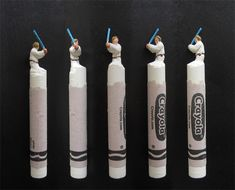 Artist Creates Mini Sculptures Of Pop Culture Characters By Carving Into Crayons. These are cool!