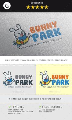 #Bunny Park #Logo - Animals Logo Templates Download here: https://graphicriver.net/item/bunny-park-logo/19738346?ref=alena994
