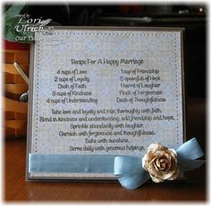 Marriage Recipe by saintsrule - Cards and Paper Crafts at Splitcoaststampers