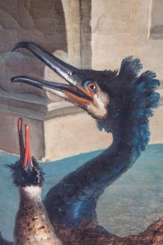 For the last few years I have become very interested in birds in art.  This is a close up detail of an amazing bird that is in the Jean-Baptiste Oudry ( 1686-1766) painting I have in the morning room at Weatherstone.