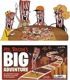 Mr. Bacon's Big Adventure Board Game -Join Mr.Bacon in his mouthwatering journey to the frying pan!