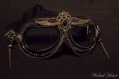 I just bought these amazing goggles for Burning Man. Gotta protect my eyes in style!