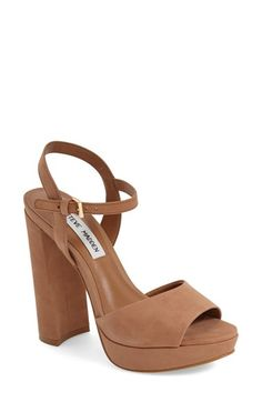 Free shipping and returns on Steve Madden 'Kierra' Platform Sandal (Women) at Nordstrom.com. Lush suede and a lofty platform intensify the throwback appeal of an open-toe sandal topped with a slim ankle strap.